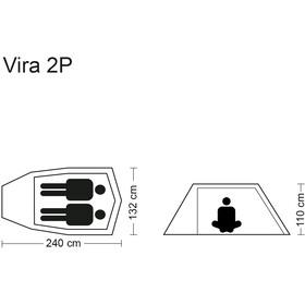 CAMPZ Vira 2P Tiendas de campaña, green/olive